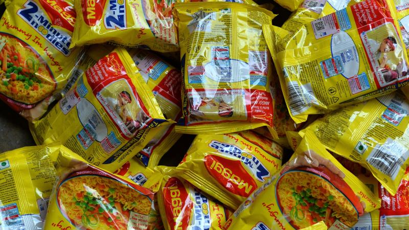 Nestlé's Maggi instant noodles gained popularity in India as the snack of the middle class in the 1980s.