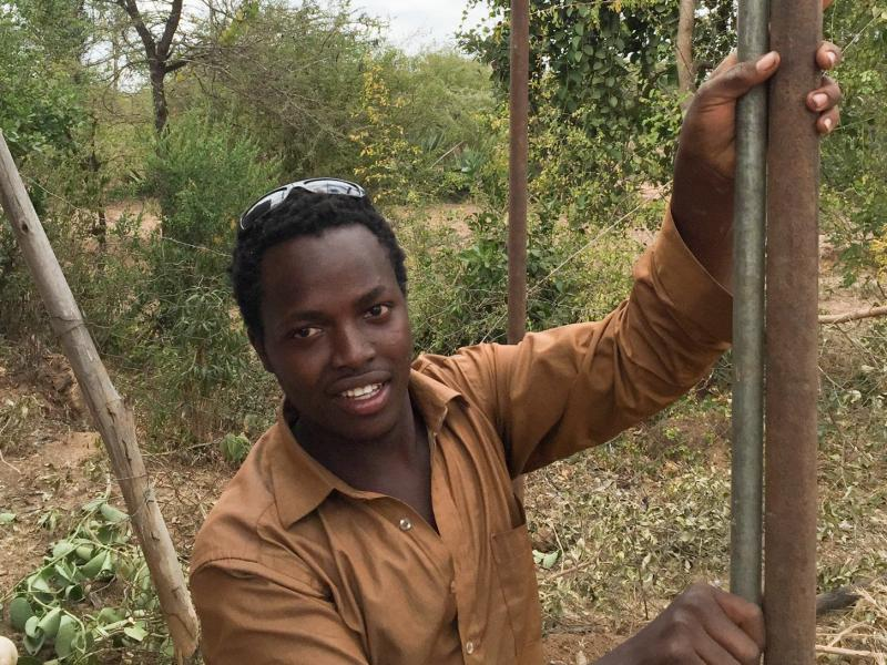 On Friday, 22-year-old Joel Kitele plans to take his first shower ever in a stall he built for himself. The power source: Kenya's electrical grid.