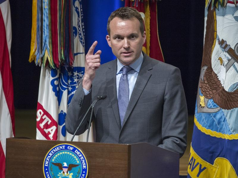 Eric Fanning, then the acting secretary of the U.S. Air Force, delivers remarks during a 2013 ceremony at the Pentagon. Fanning has held numerous military posts in the Obama administration.
