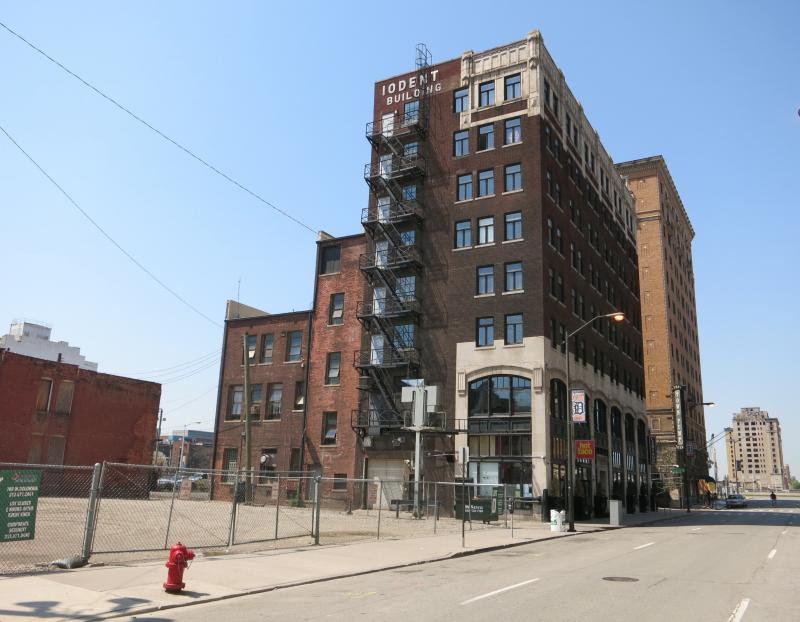 Detroit is attracting entrepreneurs who like the relatively cheap workspaces. But real estate developers and business owners like Sean Harrington, who turned the Iodent Building into an apartment complex, are paying the price in property taxes.