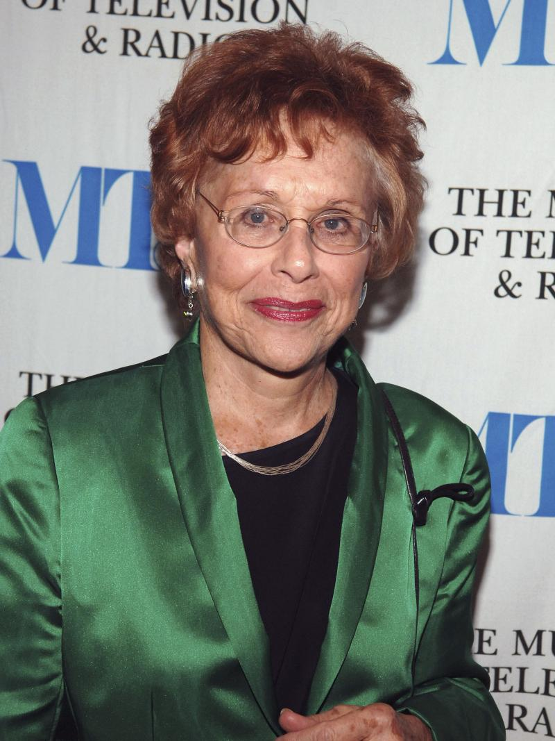 Journalist Marlene Sanders, seen here on Dec. 1, 2005, died Tuesday at the age of 84.