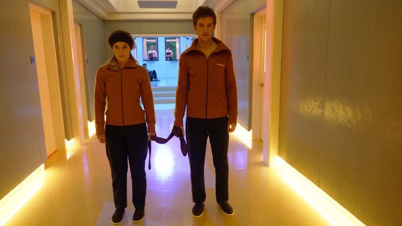Syd Barrett (Rachel Keller) and David Haller (Dan Stevens) in the FX series Legion.