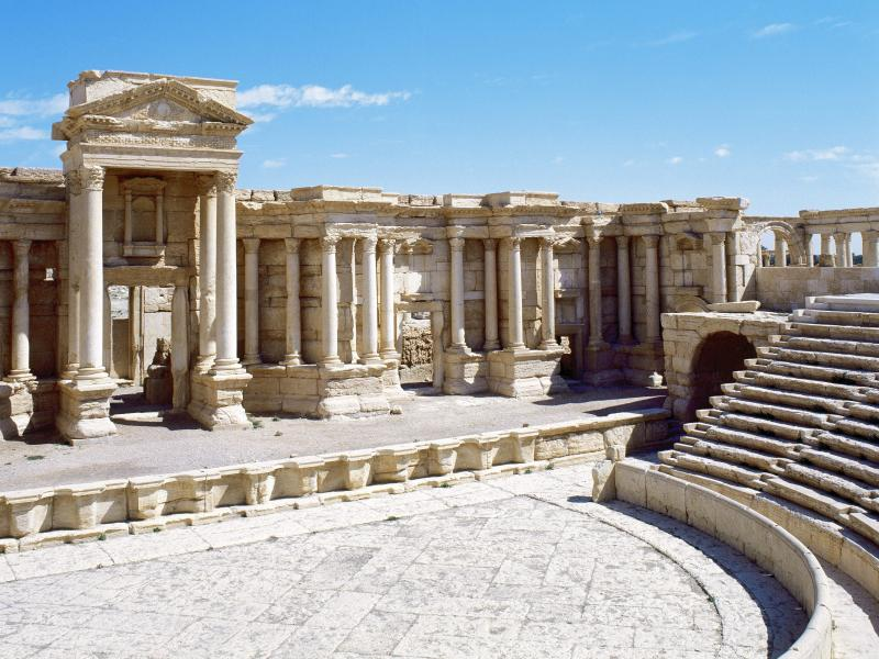 The Roman theater in Palmyra, which dates from the 1st century A.D. Islamic States militants have reportedly placed landmines around it and other ancient ruins.