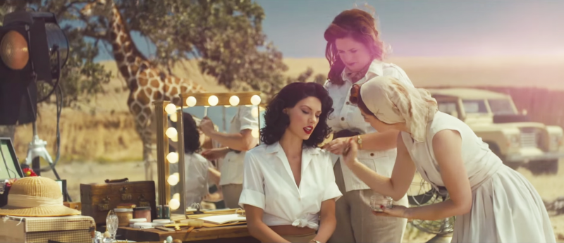 "In the video for ""Wildest Dreams,"" Taylor Swift is all decked out in African colonial-era style."