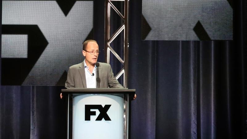 John Landgraf, CEO of FX Networks, speaks to the Television Critics Association on Aug. 7.