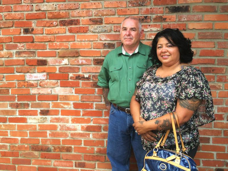 Walt and Ester Weaver (shown here outside their attorney's office in Waco) were released on bond after their arrest but are still on curfew, can't associate with other members of motorcycle clubs, and could still be indicted.