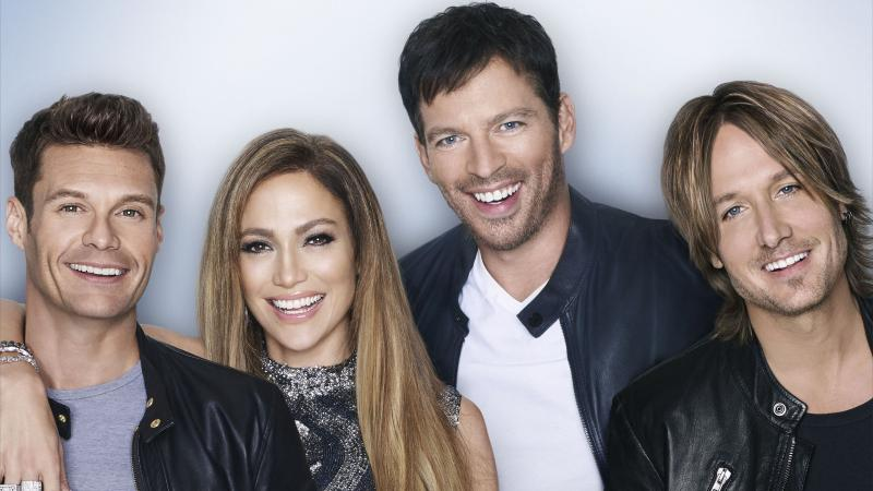 Ryan Seacrest (from left), Jennifer Lopez, Harry Connick Jr. and Keith Urban