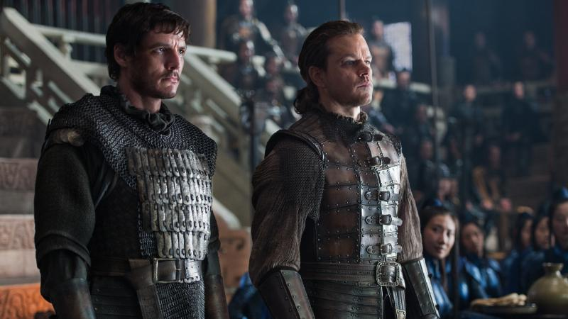 """""""... For The Night Is Dark And Filled With Lizard-People"""": Pero (Pedro Pascal) and William (Matt Damon) in The Great Wall."""