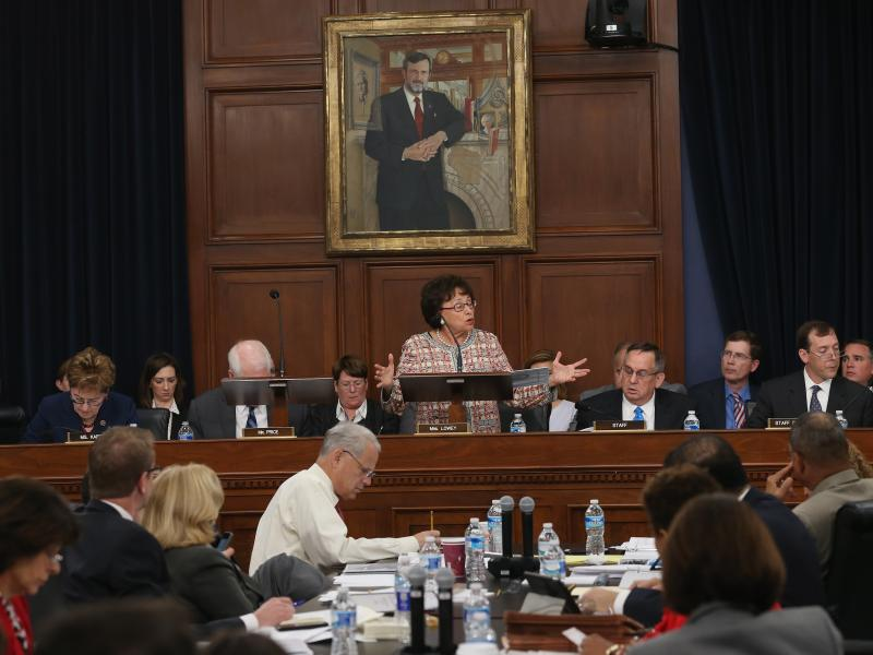 """""""Starving rail of funding will not enable safer train travel,"""" Rep. Nita Lowey, D-N.Y., told the House Appropriations Committee Wednesday. Rep. Mike Simpson, R-Idaho, admonished Democrats: """"Don't use this tragedy in that way,"""" he said. """"It was beneath you"""
