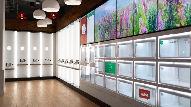 Eatsa's first location is in San Francisco's financial district. Its quinoa-based dishes sell for about $7 a bowl.