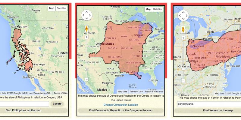 From left: How the Philippines, the Democratic Republic of Congo and Yemen stack up against the United States.