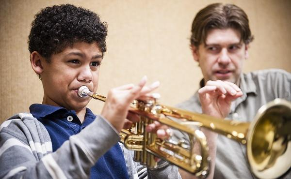 Trumpet Lesson at the Community Music School