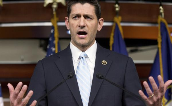Rep. Paul Ryan told GOP lawmakers that he will run for speaker, but only if they embrace him by week's end as their consensus candidate, an ambitious bid to impose unity on a disordered and divided Republican conference.