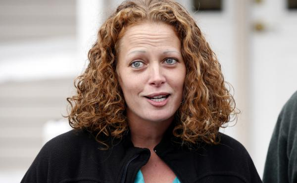 Nurse Kaci Hickox speaks to the media last year outside her home in Fort Kent, Maine. Hickox, who sharply protested being quarantined at a New Jersey hospital in 2014 after she returned from treating Ebola patients in West Africa, has filed a lawsuit agai