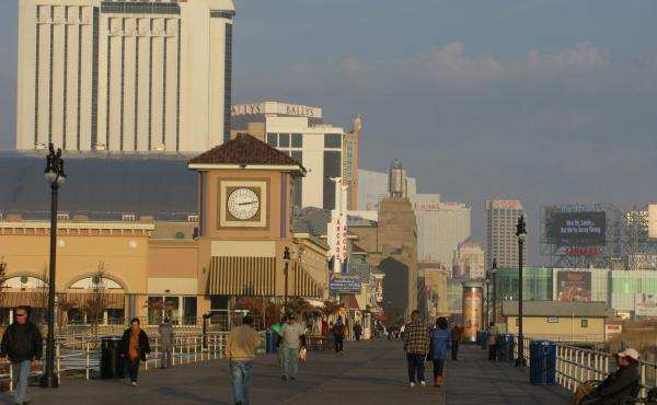 Atlantic City's boardwalk, with its shops, restaurants, casinos and hotels, was mostly protected during Hurricane Sandy by a dune restoration project. But TV images of one small section that was damaged gave the impression that the whole thing was destroy