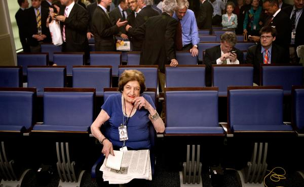 Veteran White House correspondent Helen Thomas broke barriers and became a White House fixture, but her famous bluntness caused her downfall in the end.