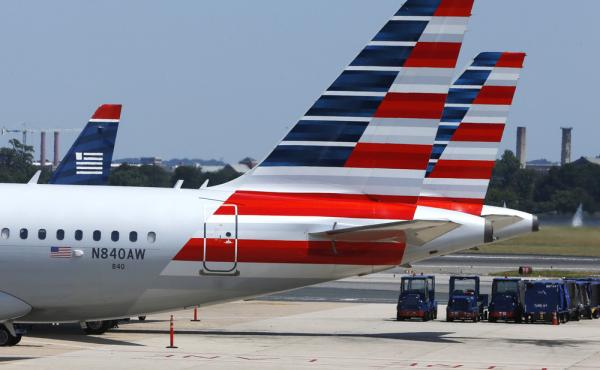 American Airlines planes sit on the tarmac last month at Reagan National Airport in Washington, D.C.