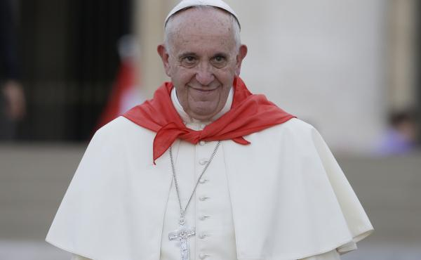 Pope Francis leaves St. Peter's Square at the Vatican in August. In a letter published Tuesday, he said, in part,