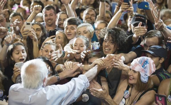 Sen. Bernie Sanders, I-Vt., has gotten some of the biggest and most devoted crowds of the 2016 presidential race, including in Portland, Ore., this month, where he drew more than 19,000.