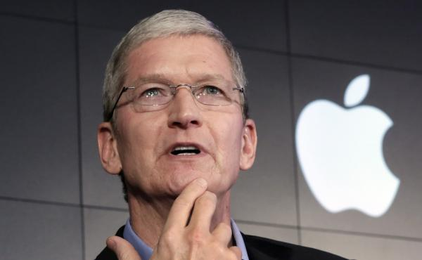 Apple CEO Tim Cook speaks in New York on April 30. This week, he said some of Silicon Valley's most prominent companies have