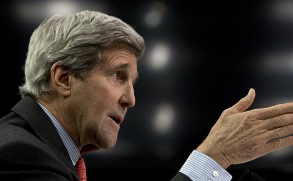 Secretary of State John Kerry testifies on Capitol Hill in Washington, on Wednesday.