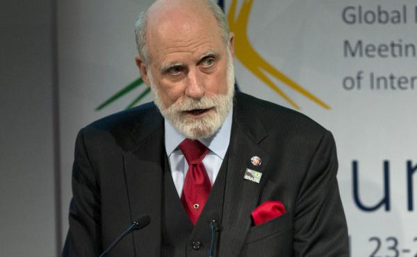 "Vint Cerf in a photo from last year. Cerf is warning of a possible ""digital Dark Ages"" if the world's data isn't permanently preserved."