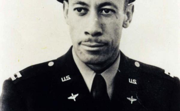 This July 1943 photo provided by the Los Angeles Chapter, Tuskegee Airmen Inc., shows Lowell C. Steward after his graduation from flight training at Tuskegee Army Air Field, in Tuskegee, Ala. Steward, who won the Distinguished Flying Cross among other awa