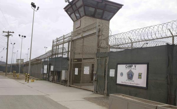 The entrance to Camp 5 and Camp 6 at the U.S. military's Guantanamo Bay detention center at Guantanamo Bay Naval Base, Cuba, in a photograph taken earlier this year.