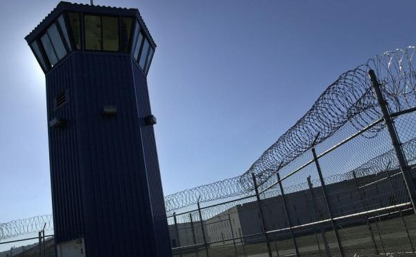 A watchtower rises above the maximum security complex at Pelican Bay State Prison near Crescent City, Calif.