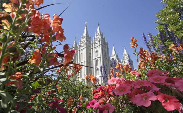 The Salt Lake Temple, at Temple Square, in Salt Lake City.