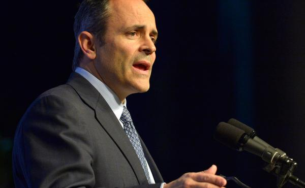 Kentucky Gov. Matt Bevin is following through on a promise he made to drop the state-run health insurance exchange in favor of the federal HealthCare.gov.