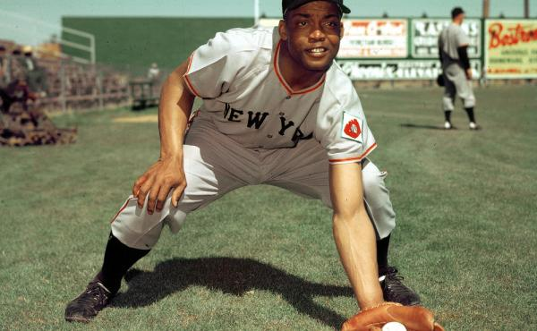 Monte Irvin poses during spring training in this 1952 photo. The Hall of Famer died Monday at age 96.