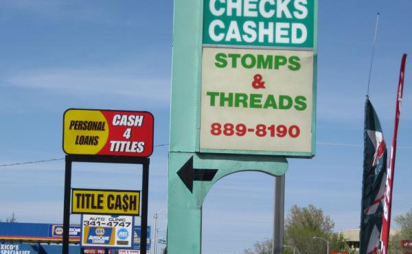 Payday lender ACE Cash Express is seen on San Mateo Boulevard in Albuquerque, N.M. High-interest lending practices are being targeted by new federal regulations.