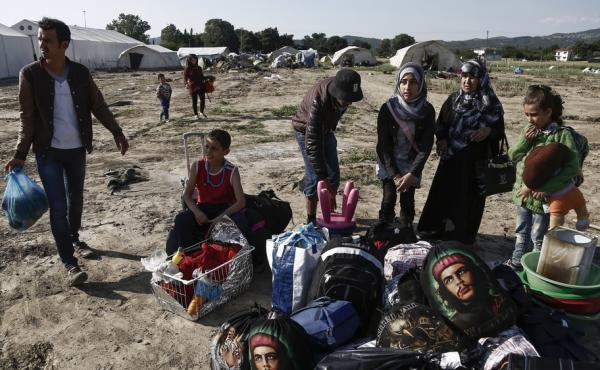 Syrian refugees at a makeshift camp on the Greek-Macedonian border, near the northern Greek village of Idomeni, on May 26. President Obama wants to bring 10,000 Syrian refugees to the U.S. this year. Donald Trump, the presumptive Republican presidential n
