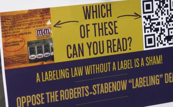 Congress has passed a bill that will require food companies to disclose GMOs — but without necessarily using a GMO label on packaging. Companies would have several disclosure options, including using a QR code on packaging that customers could then s