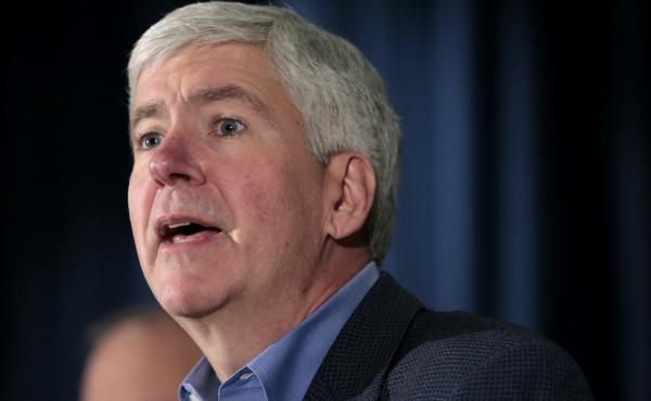 """Gov. Rick Snyder called for the people of Michigan to """"be supportive of law enforcement,"""" after a shooting at a courthouse in St. Joseph killed two bailiffs and injured two others."""