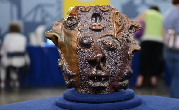 """""""The potter has used an impressive array of techniques to come up with this extraordinary texture,"""" an Antiques Roadshow appraiser said of this piece — which turned out to be a high school art project."""