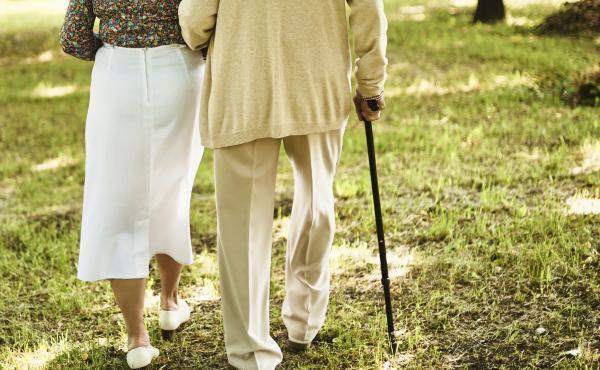 Seniors walking together.
