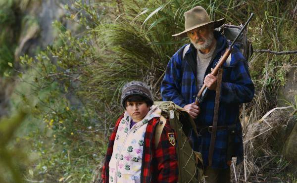 Ricky (Julian Dennison) and Hec (Sam Neill) in Hunt For The Wilderpeople