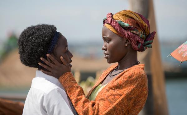 Madina Nalwanga and Lupita Nyong'o star in Queen of Katwe, directed by Mira Nair.