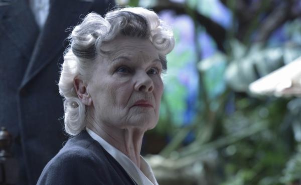 Dame Judi Dench as the mysterious mentor Miss Avocet in Miss Peregrine's Home for Peculiar Children.