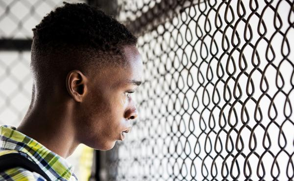 Ashton Sanders in Moonlight, a film directed by Barry Jenkins.