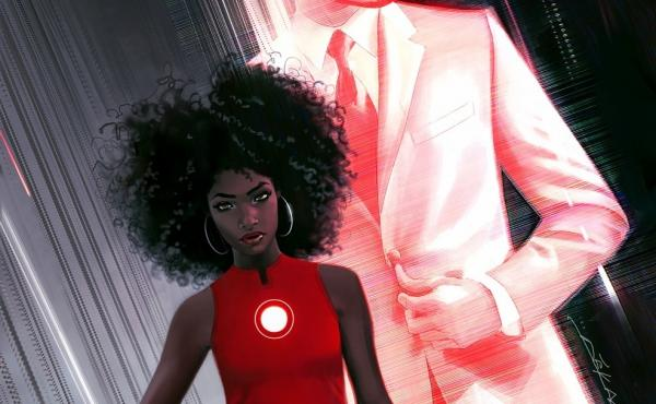 The cover of Invincible Iron Man, with art by Jeff Dekal.