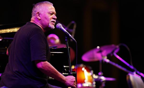 Pianist and composer Joe Sample, seen here at the 2010 Beirut Jazz Festival in Lebanon, has died at age 75.