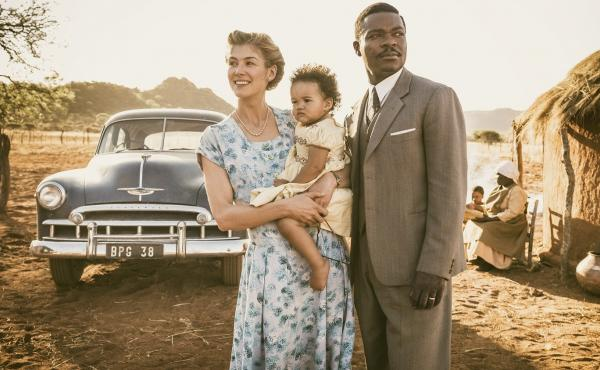 Before Botswana: Ruth (Rosamund Pike) and Seretse (David Oyelowo) present a united front in A United Kingdom.