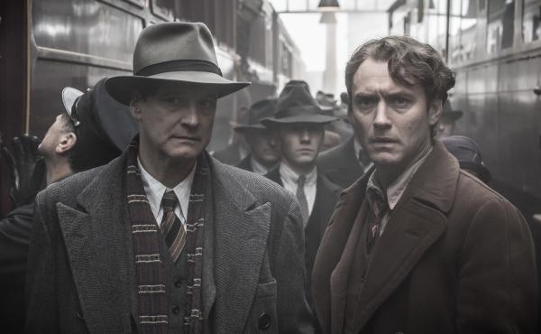 Max Perkins (Colin Firth) and Thomas Wolfe (Jude Law) in the new film Genius.