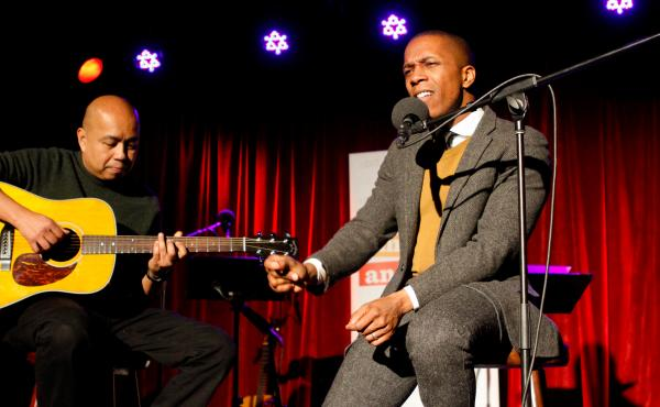 Leslie Odom Jr. and Robin Macatangay on Ask Me Another.