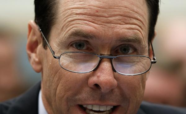 Randall Stephenson, CEO of AT&T, says his company's proposed merger with Time Warner will not hurt competition.