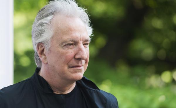 British actor Alan Rickman has died at age 69; he had reportedly been suffering from cancer. He's seen here in New York last June.