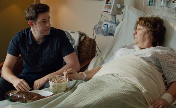 John Krasinski's character returns to his small hometown when his mother (Margo Martindale) is hospitalized with a brain tumor in The Hollars.